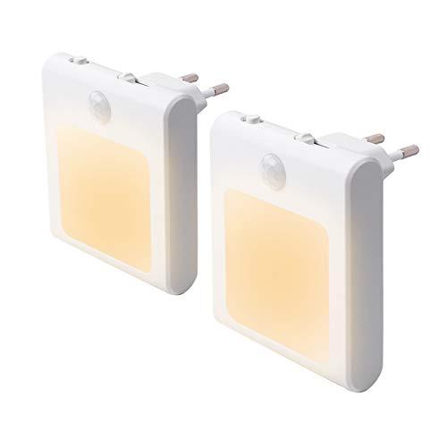 2 Stück LED Nachtlicht Steckdose mit...