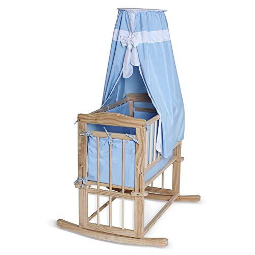 Babybett Himmelbett aus Holz Kinderwiege...