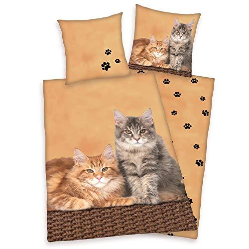 Wende Bettwäsche Katzen Bettwäsche 135...