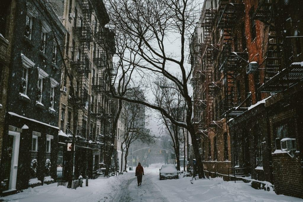 Winter spazieren.