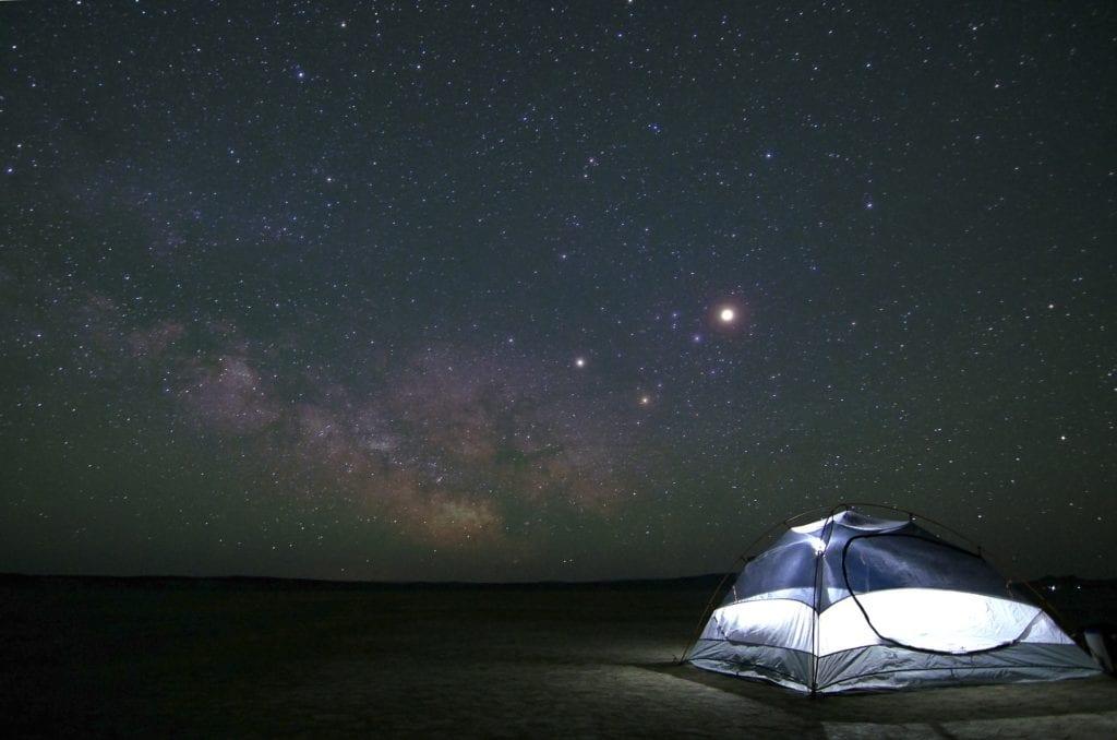 Matratze für Camping.