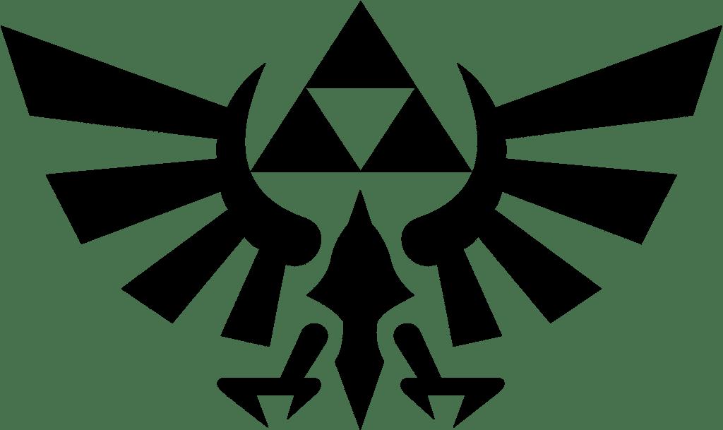 Zelda Logo auf Bettwäsche