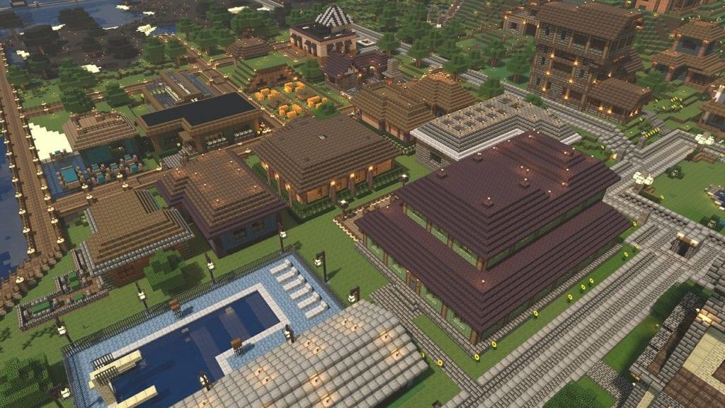 Minecraft Stadt