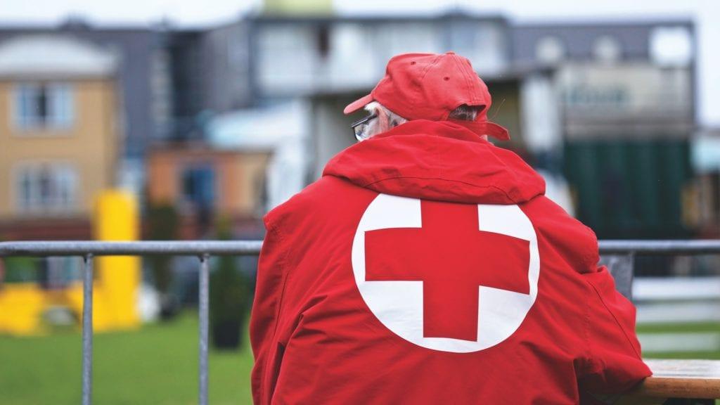 Alte Matratze - Rote Kreuz