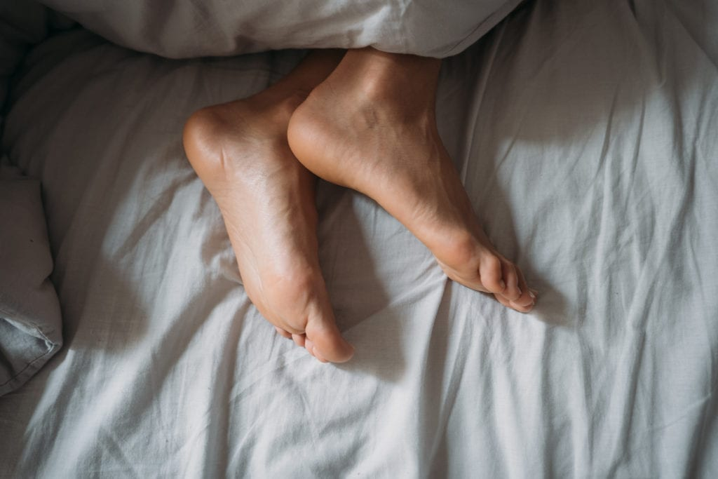 Füße frieren im Bett