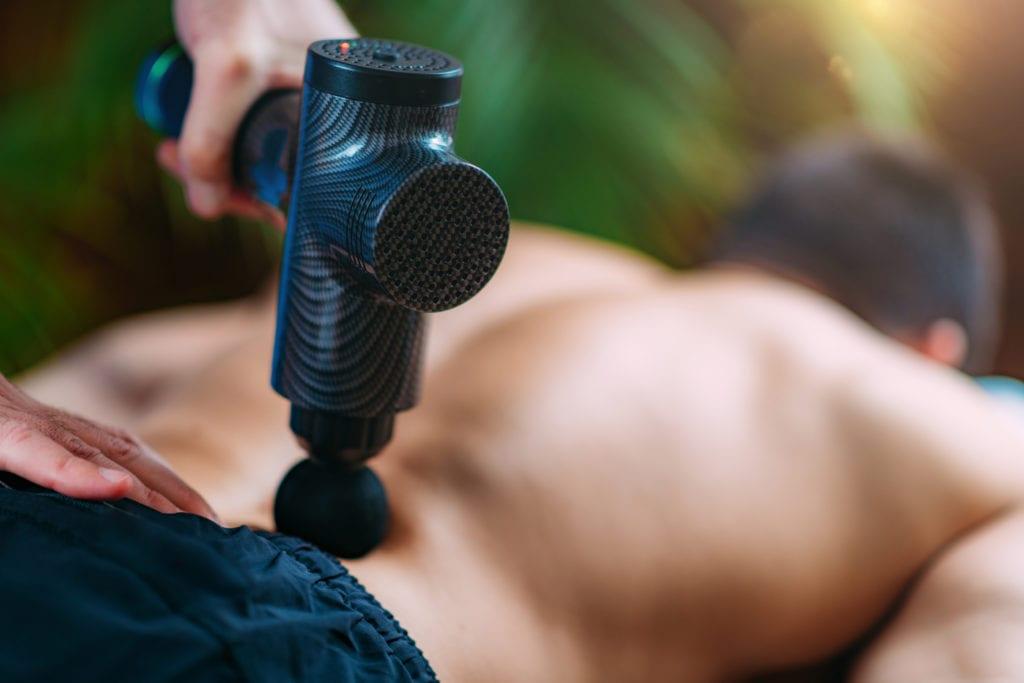 Massagepistole - Wirbelsäule