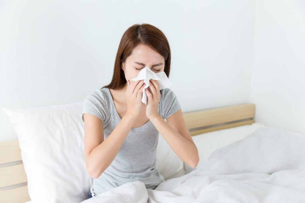 Matratze - Allergiesymptome