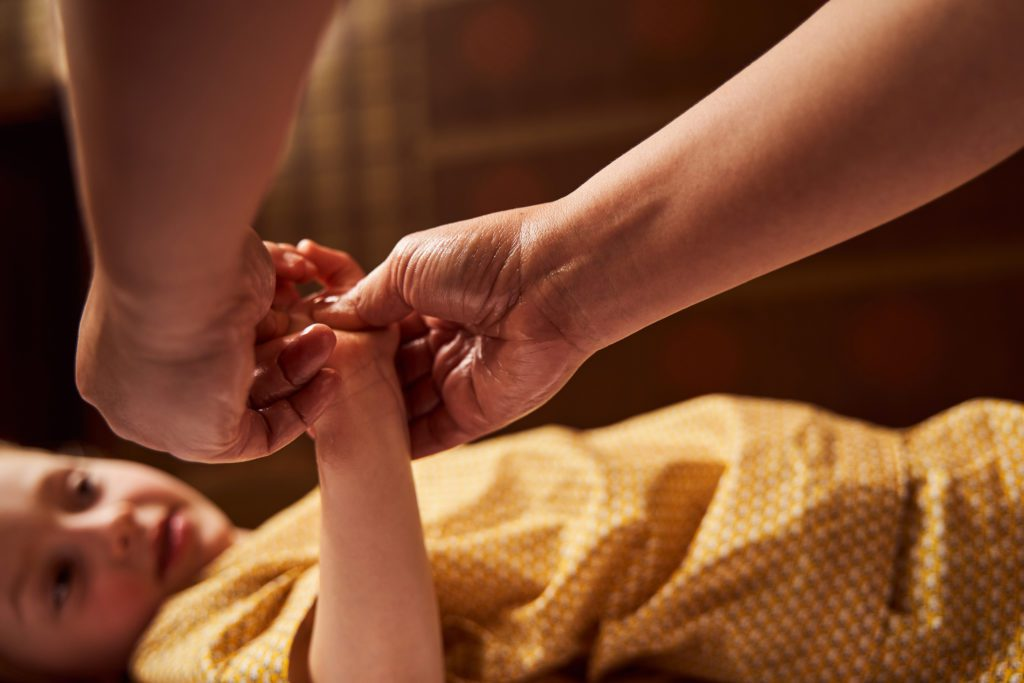 Kindermassage - Atmosphäre