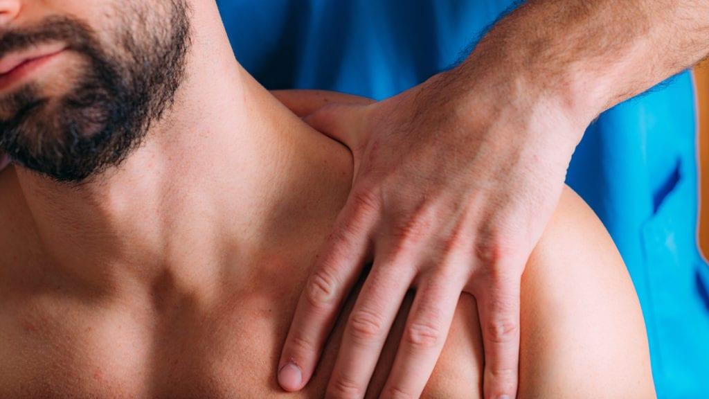 Nackenmassage gegen Schwindel